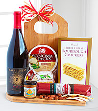 Gourmet Wine and Cheese Board