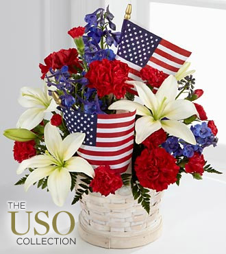 The FTD® American Glory™ Bouquet - BASKET INCLUDED