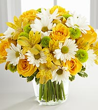 The FTD® Sunny Sentiments™ Bouquet - VASE INCLUDED