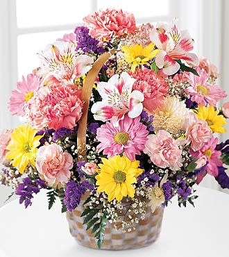 The FTD® Basket Of Cheer® Bouquet - BASKET INCLUDED