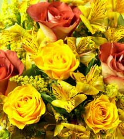 Russet and Gold Rose Harmony Bouquet