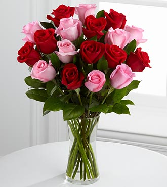 Sweet Thoughts Rose Bouquet - 18 Stems - VASE INCLUDED