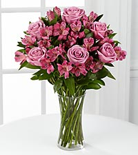 Purple Perfection Bouquet - VASE INCLUDED