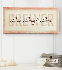 Personal Creations® Personalized Live, Laugh, Love Canvas