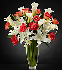 Blessings Luxury Rose Bouquet - 12 Stems of 24-inch Premium Long-Stemmed Roses with Lilies