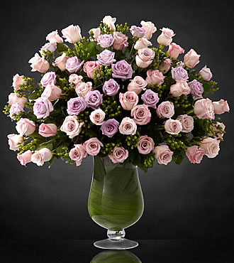 Applause Luxury Rose Bouquet - 24-inch Long-Stemmed Roses - VASE INCLUDED