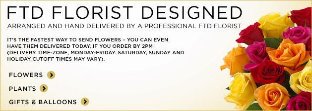 FTD Florist Designed. Order Online for Arranged and Hand Delivered by a Professional FTD Florist.