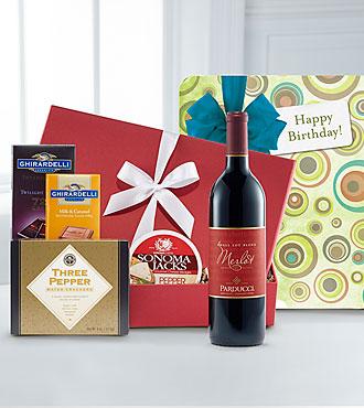 Birthday Cheers Gourmet Wine Gift